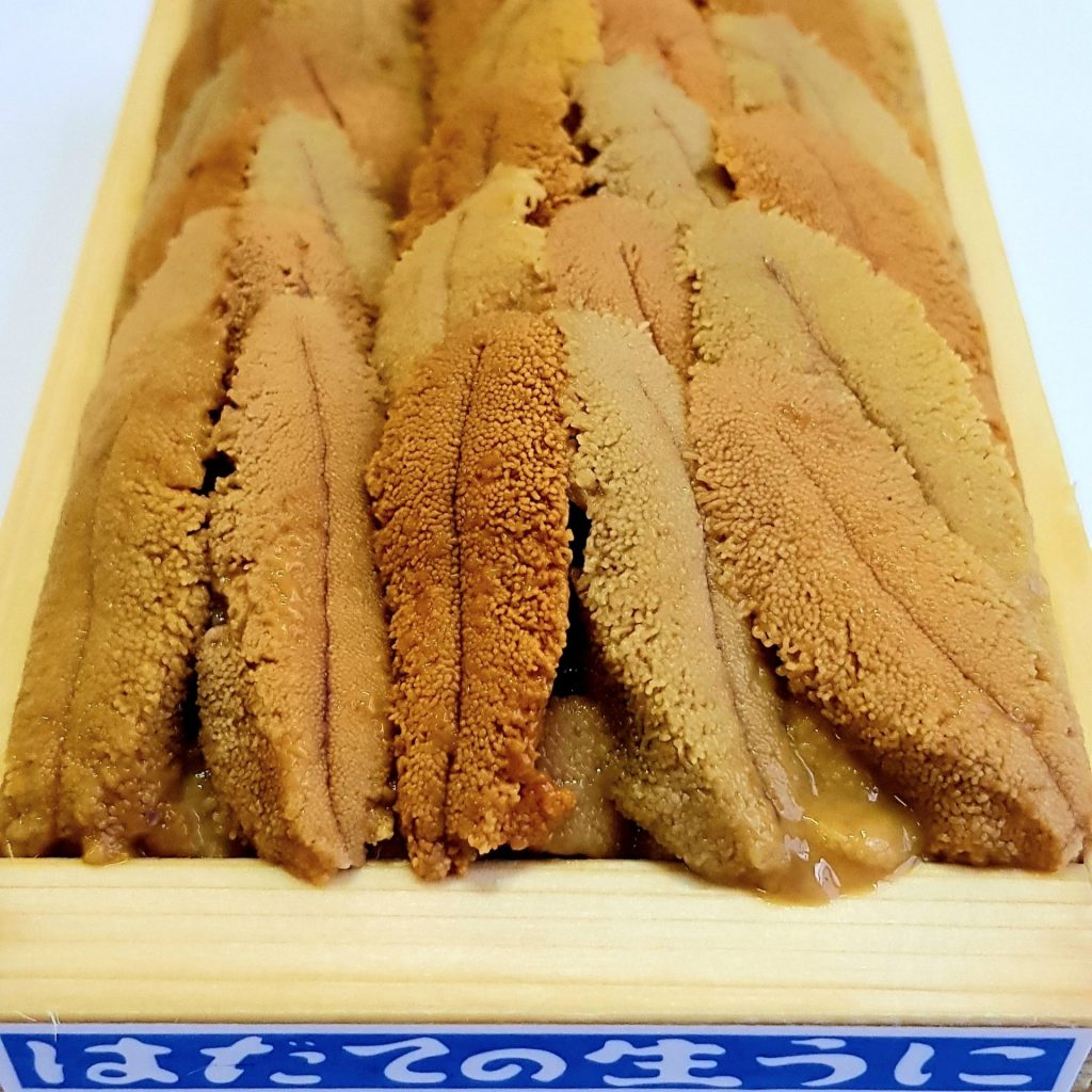 Hadate brand Murasaki uni is considered the creme de la creme of uni in the uni world. Its jaw-dropping appearance and flavour will leave you speechless and raving about it for weeks. It is an umami bomb waiting to happen.